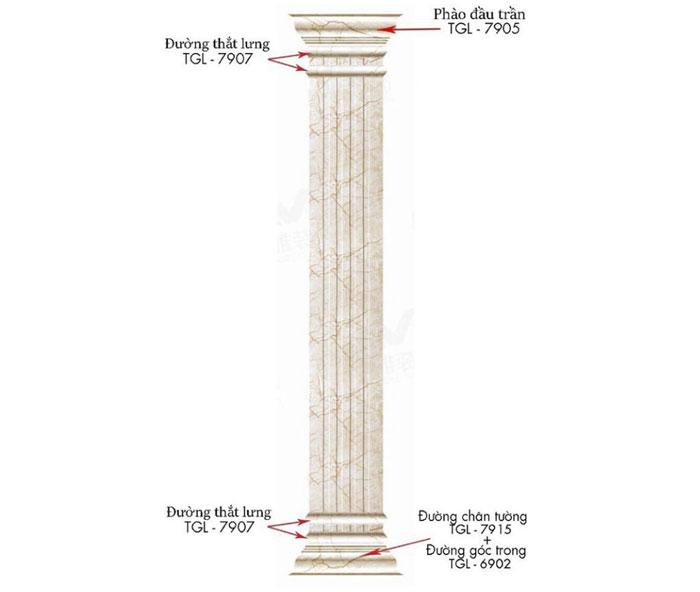 Cột đá vuông PVC – 03